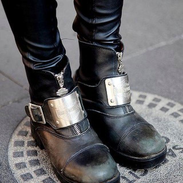 Vintage Harley Davidson boots