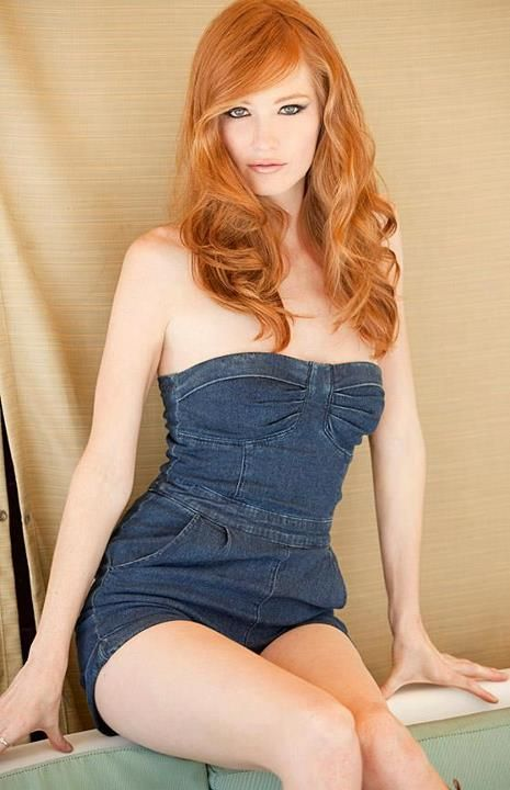 Redhead models in jeans