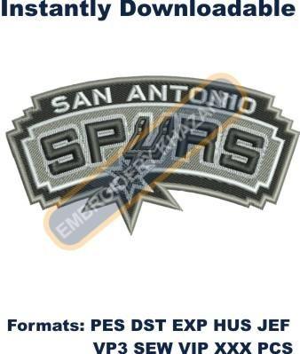8d300beee73f9 san antonio spurs logo embroidery design | NBA Teams Logos ...