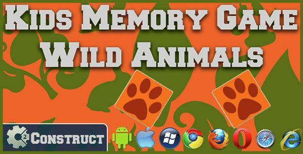 Kids Memory Games - Wild Animals | Code-Scripts-and-Plugins | Memory