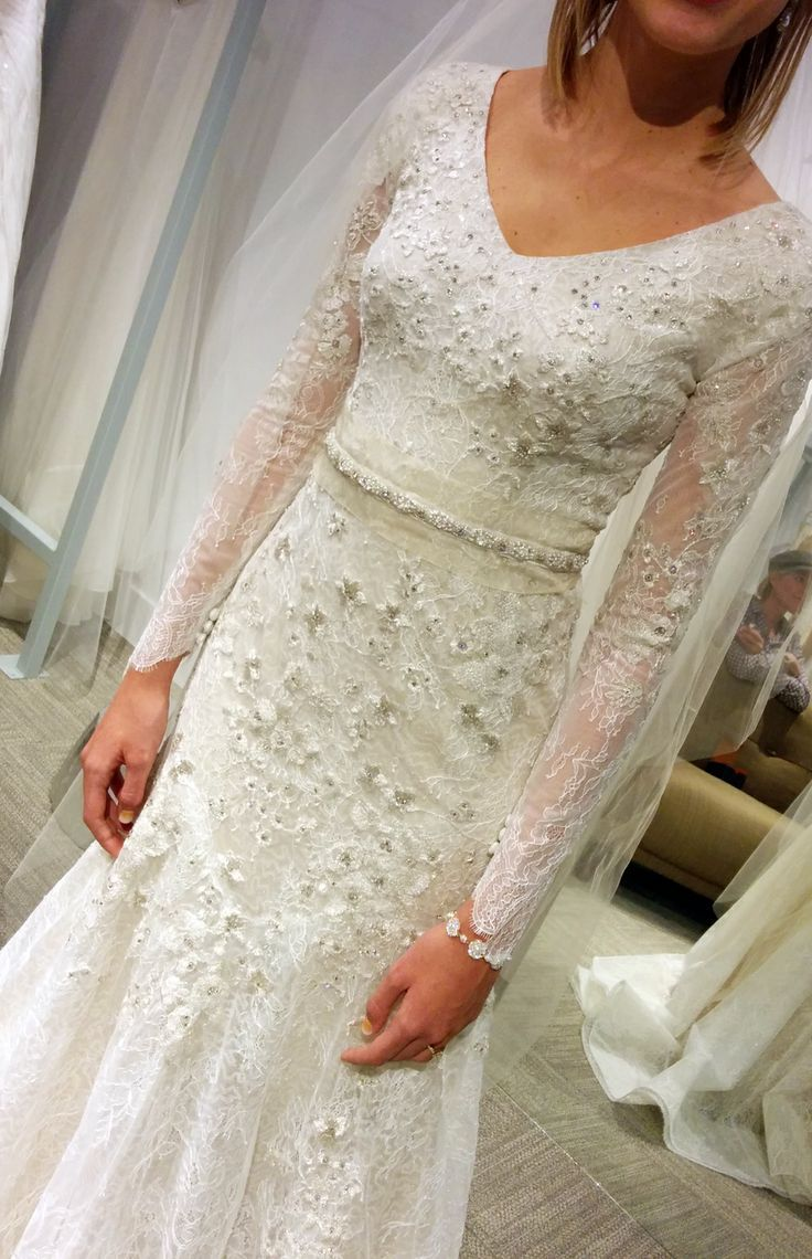 Modest long sleeve lace wedding dresses  Modest Wedding Dress with Sleeves Lace Wedding Dress Kallah Gown