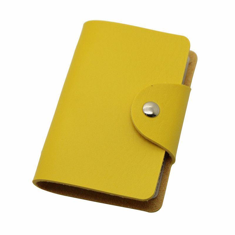 Slim PU Leather Pocket  Business ID Credit Card Wallet Holder for 24 Cards Case