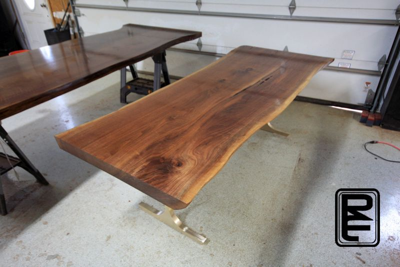 Natural Edge Tables Texas Dining Tables Reclaimed Furniture Projects With Images Walnut Dining Table Natural