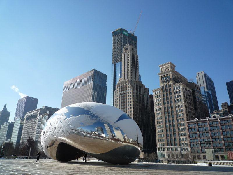"""Cloud Gate"", 2004-2006, Chicago, IL, USA - photo © Sita Shandy Anish Kapoor"