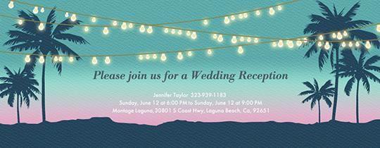 Beach String Lights Invitation