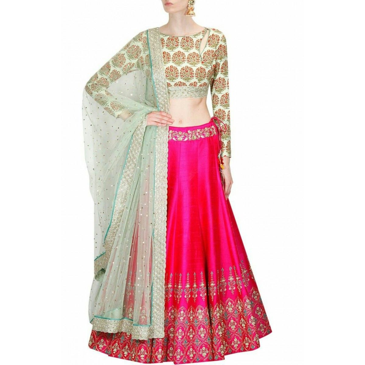 Fancy Women Semi Stitched Lehenga With Full Size