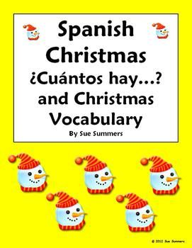 Spanish Christmas Vocabulary and Numbers - Cuantos Hay Responses ...