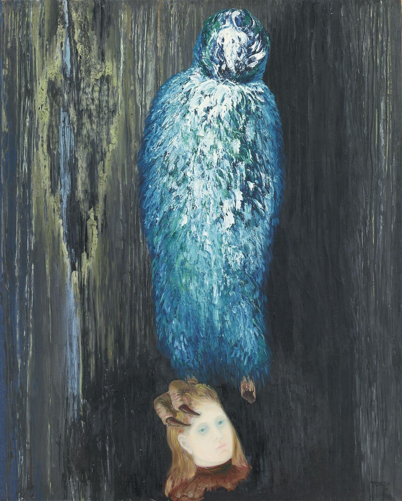 Toyen (Marie Čermínová) Czech 1902-1980 The Message of the Forest - Poselstivi lesa  (1936) oil on canvas 160 x 129 cm