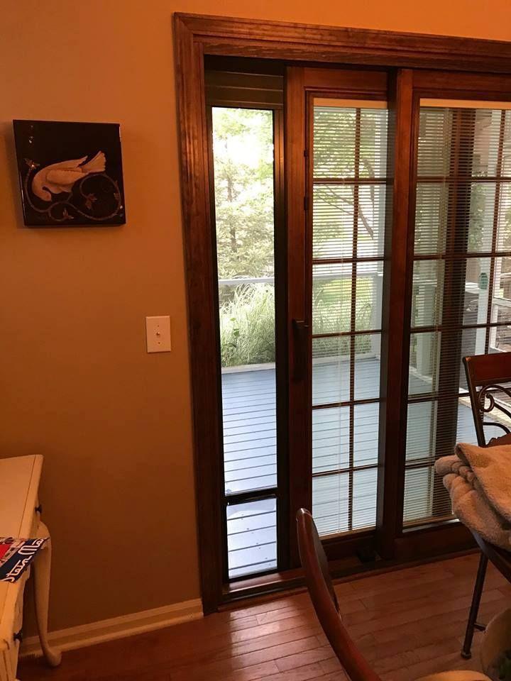 Pella Designer Series Wood/Aluminum Clad Sliding Door with