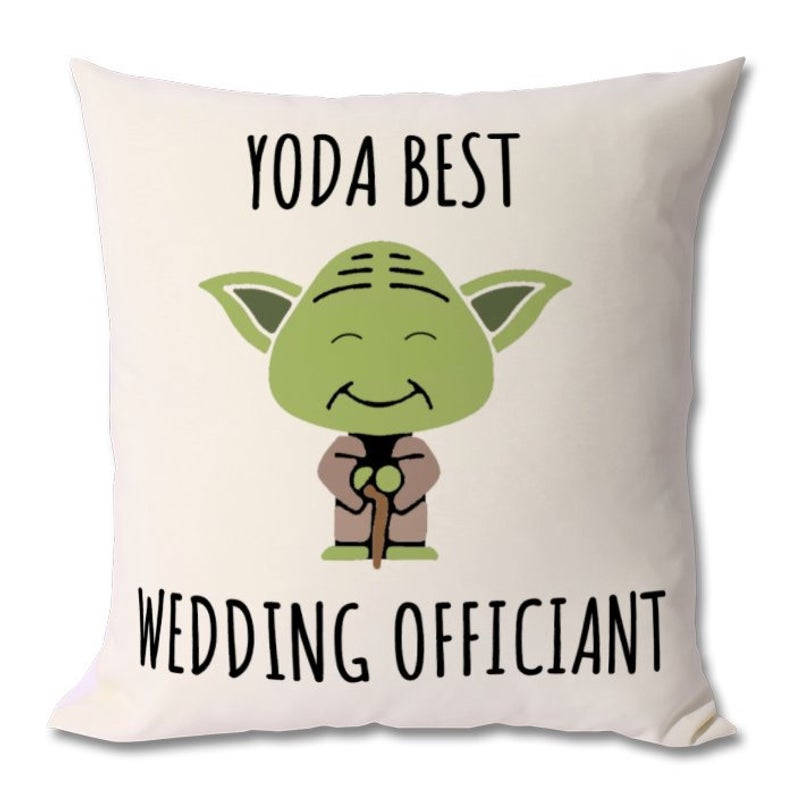 BEST WEDDING OFFICIANT cushion, wedding officiant gift