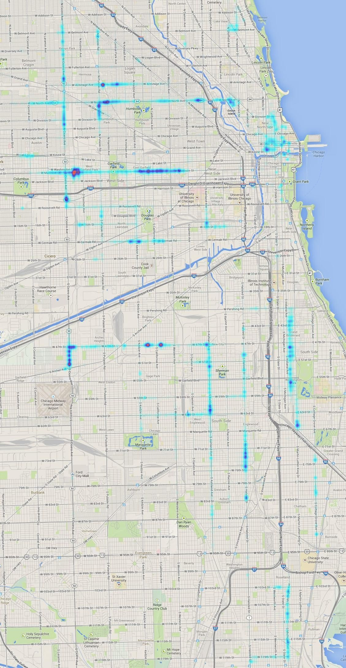 It\'s News To Us: Chicago Prostitution Heat Map | Chicago, I love ...
