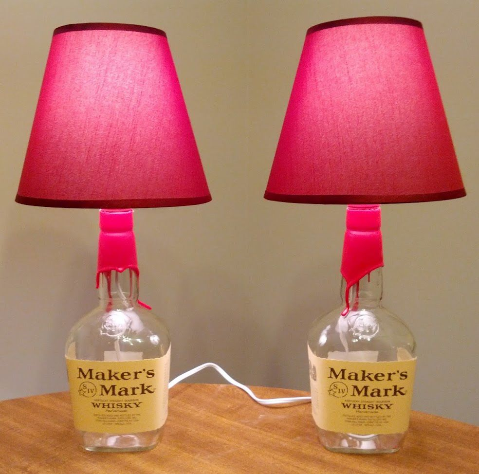 How-To: DIY Bottle Lamps | Diy bottle, Bottle and Tutorials for How To Make A Table Lamp From A Bottle  67qdu