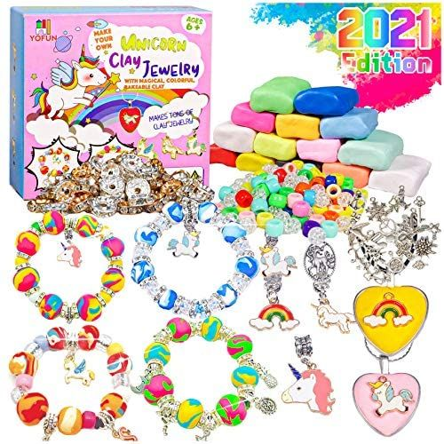 Photo of YOFUN Make Your Own Unicorn Clay Jewelry – Unicorn Craft Kits for Girls, Jewelry Making Kits for Children, Arts and Crafts for Kids Ages 8-12 and Up, Makes Tons of Unicorn Bracelets and Necklaces