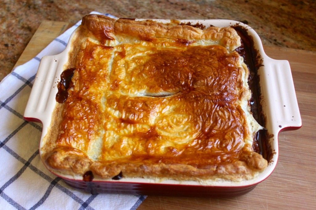 Scottish Steak Pie, traditionally topped with a puff ...