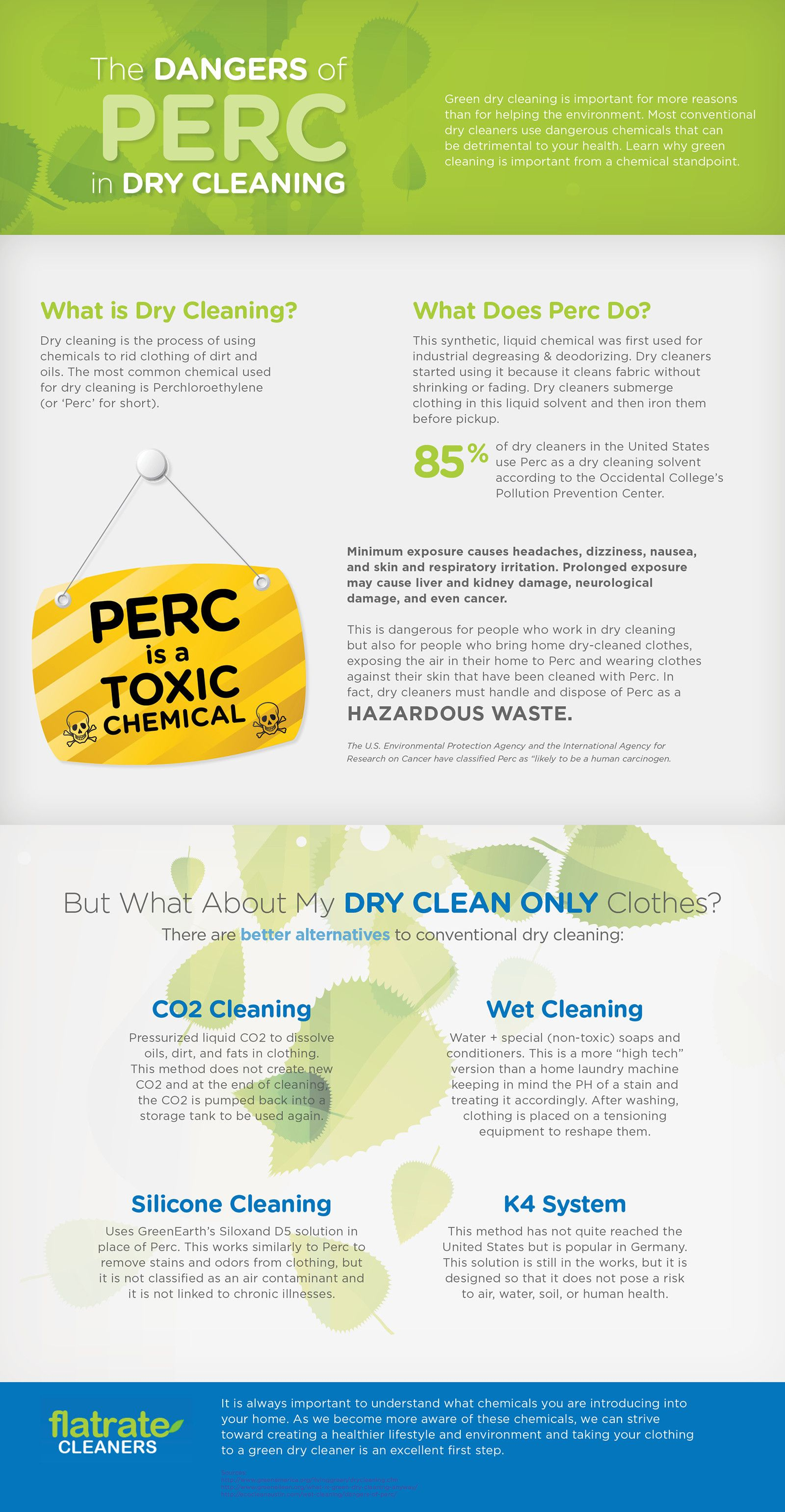 The Dangers of PERC in Dry Cleaning #infographic #DryCleaning #Environment
