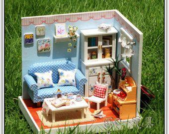 Miniature diy do it yourself doll wood house dollhouse model miniature diy do it yourself doll wood house dollhouse model children kids woman craft art kit solutioingenieria Images