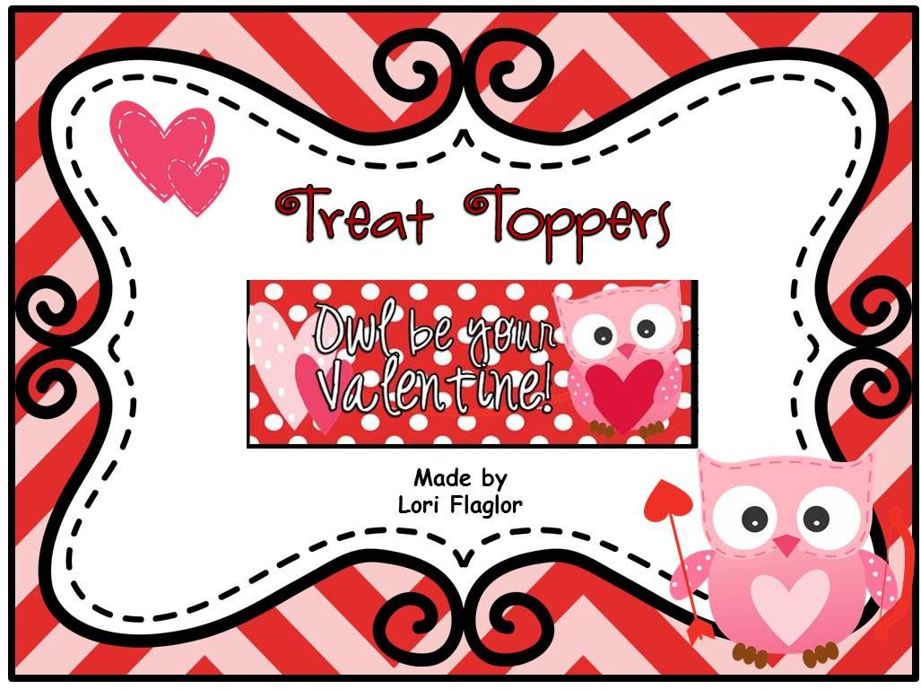 Treat Bag Toppers Owl Be Your Valentine