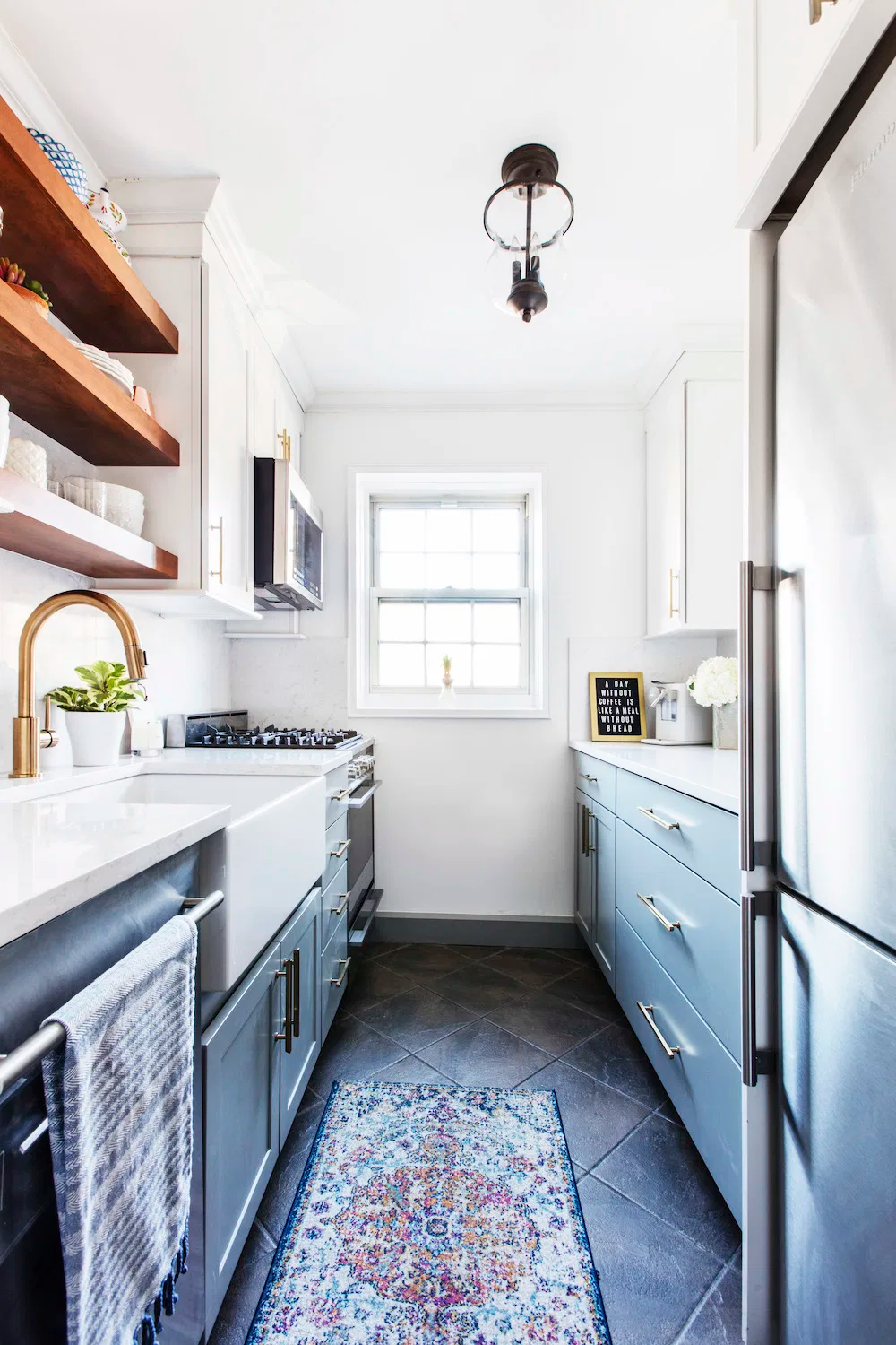 Why a Galley Kitchen Rules in Small Kitchen Design #ikeagalleykitchen