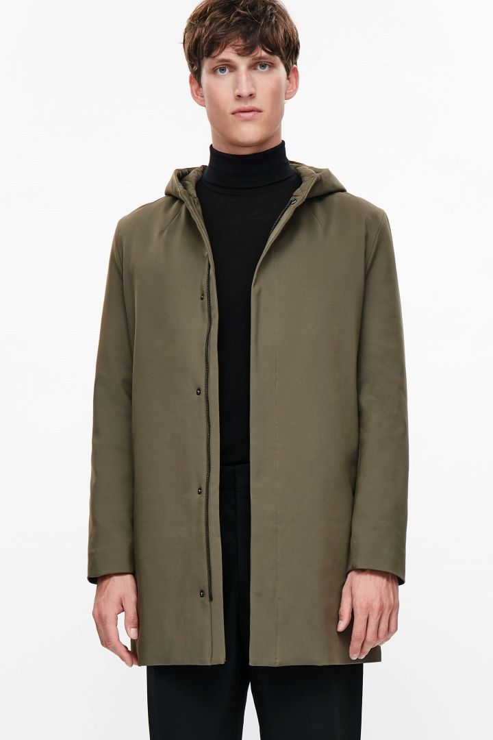 COS image 2 of Padded cotton parka in Khaki Green | Jesse ...