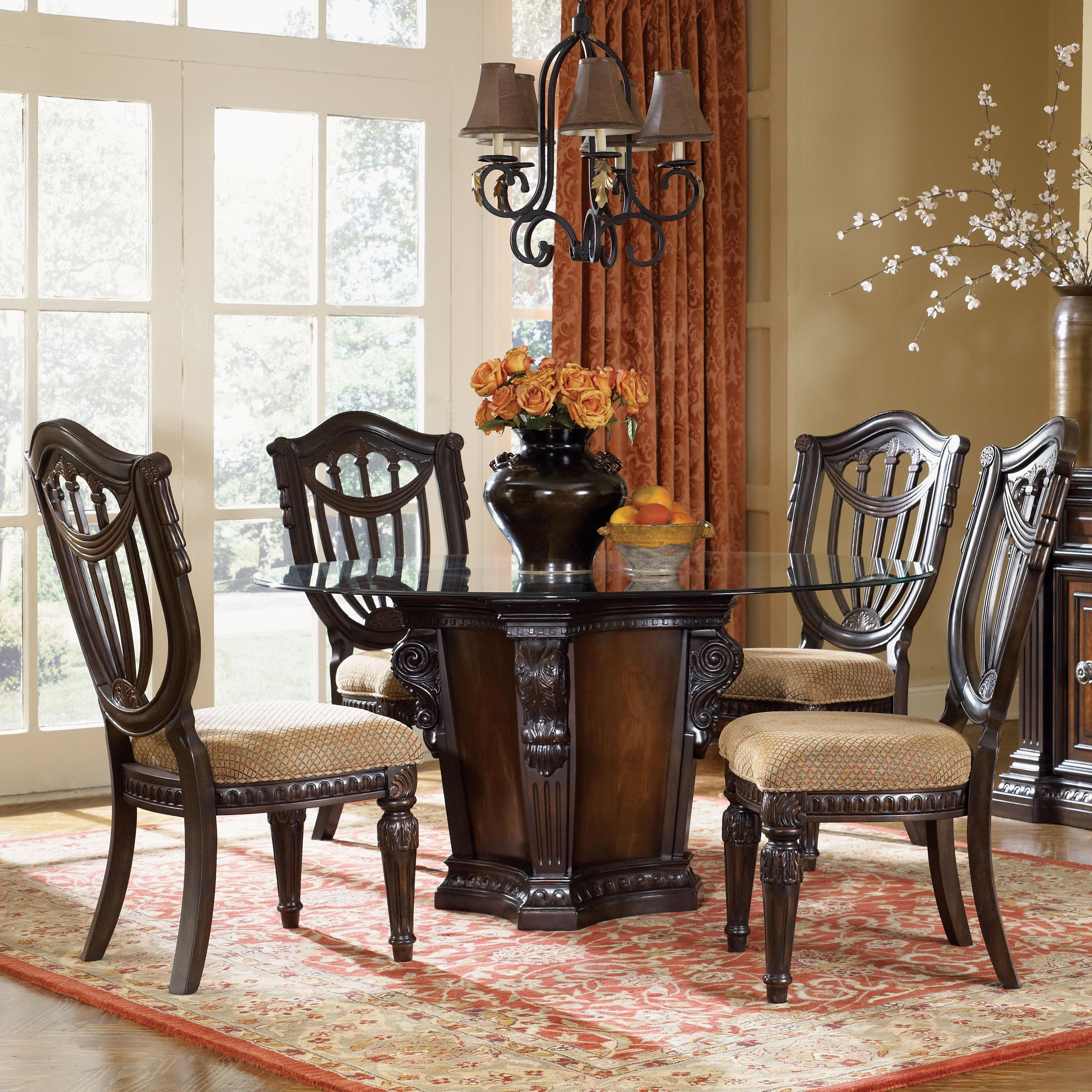 Grand estates 5 piece dining table and chairs set by for Fairmont designs dining room