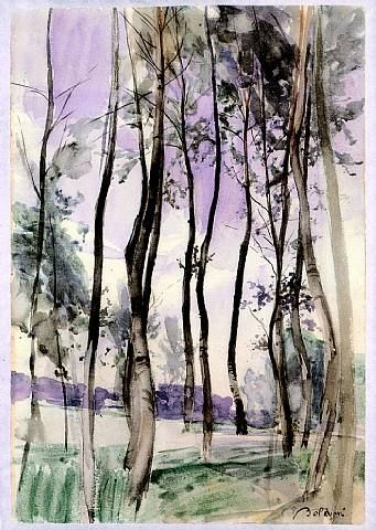 artnet Galleries: Landscape with Trees by Giovanni Boldini from Stephen Ongpin Fine Art