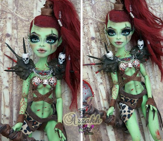 New Monster High Repaint Custom OOAK Venus McFlytrap by #ooakmonsterhigh