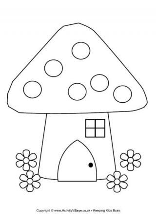Fairy House Colouring Page | Doodle | House colouring pages