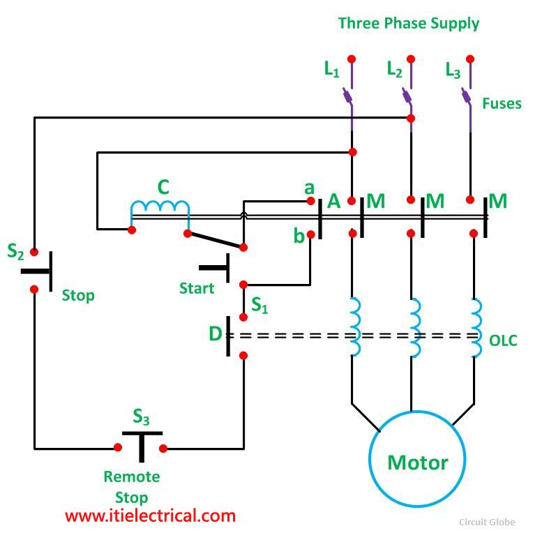 What Type Of Starters Used For Three Phase Induction Motors Electrical Circuit Diagram Circuit Diagram Basic Electrical Wiring