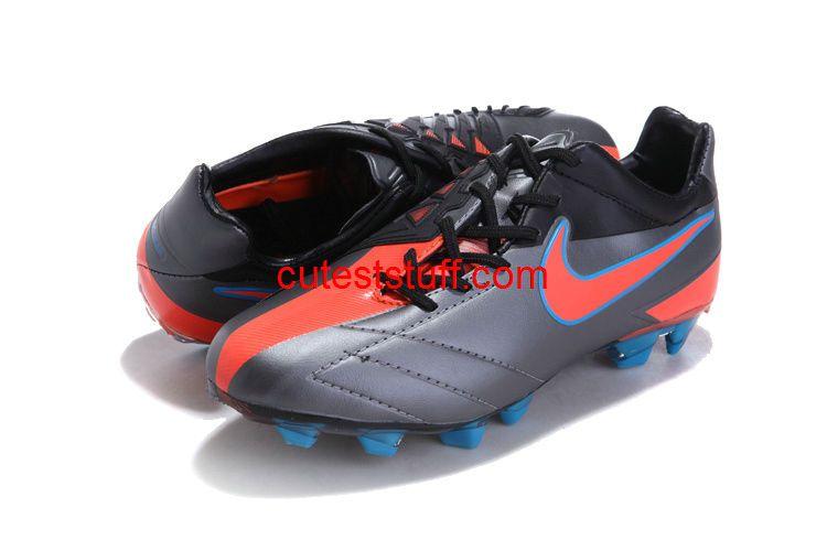 ccc48b7cd Nike T90 Laser IV KL FG Boots Black Orange Blue