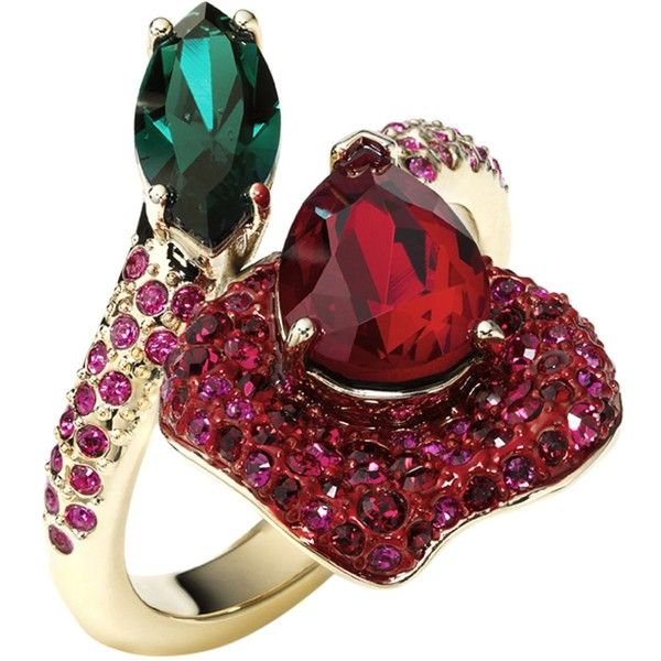 a64f120b9 Atelier Swarovski By Beauty And The Beast Ring ($290) ❤ liked on Polyvore  featuring jewelry, rings, red, red jewelry, red ring, red jewellery and  atelier ...