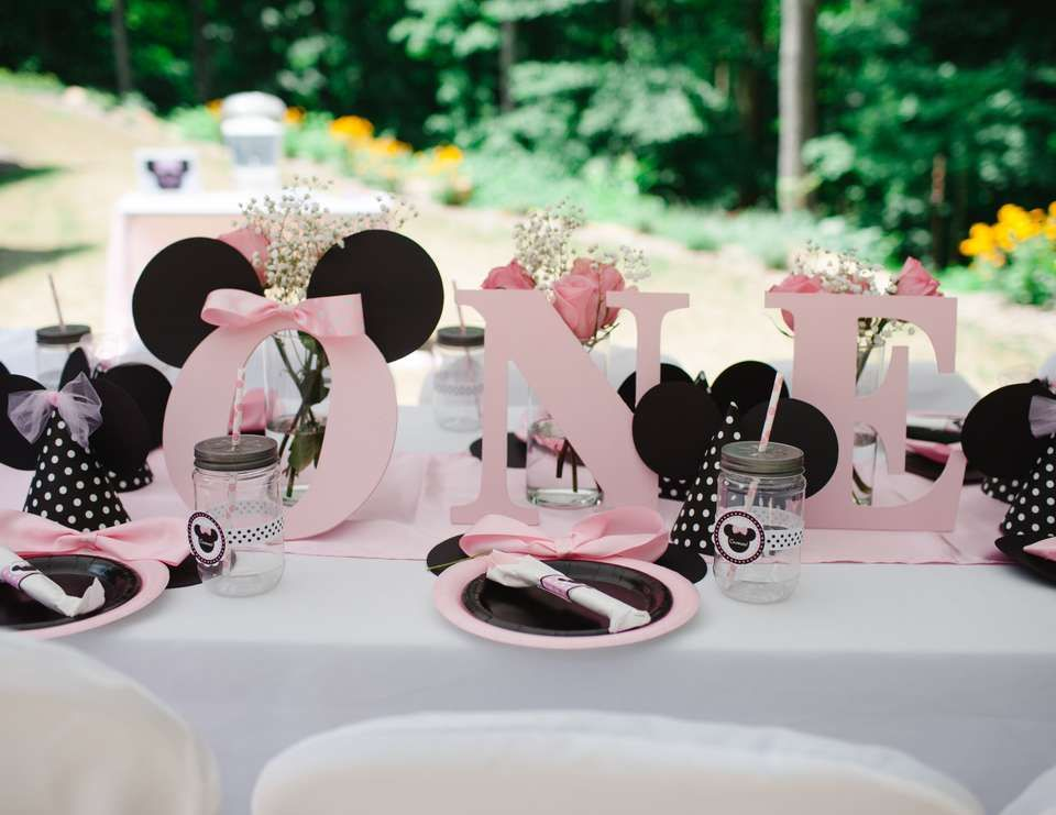 Birthday  Minnie Mouse 1st Birthday Party  & Birthday