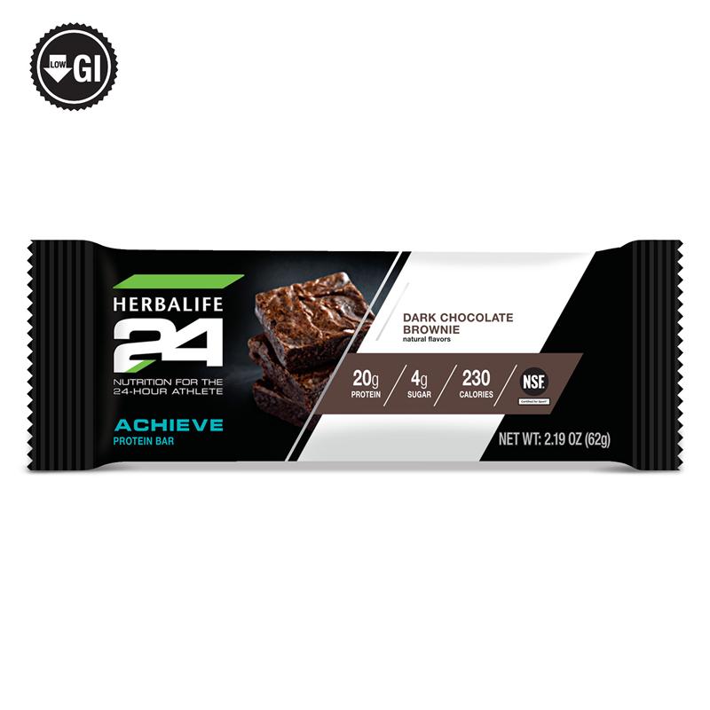Independent Herbalife Distributor Herbalife24 Achieve Protein Bar Dark Chocolate Brownie 6 Bars Per Box In 2020 Protein Bars Calories In Sugar Chocolate Brownies