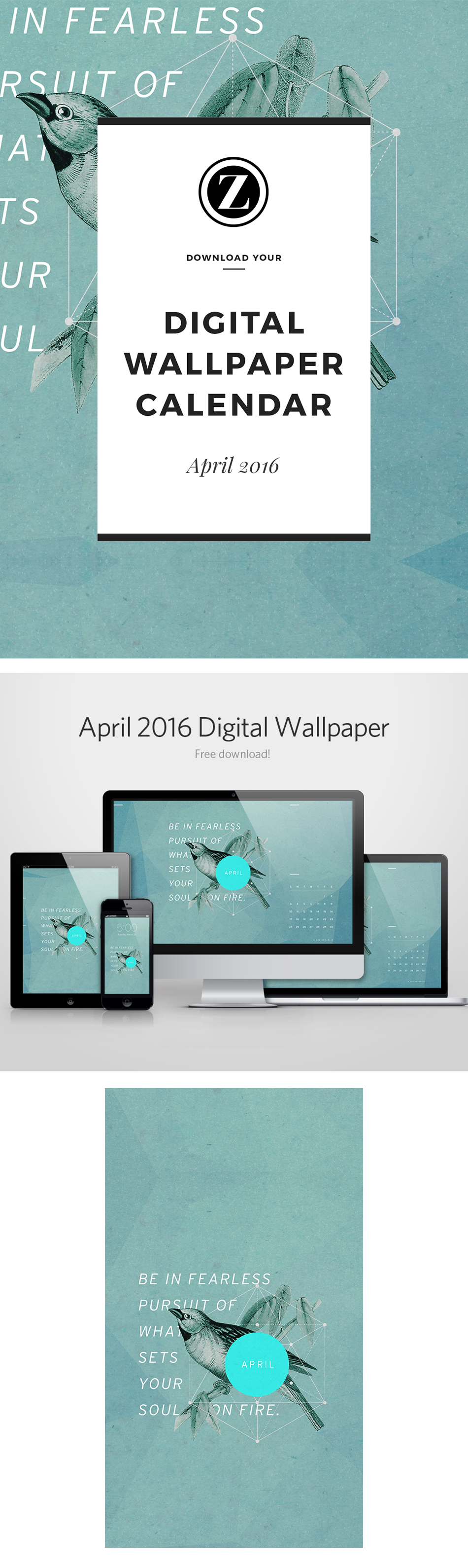Digital Wallpaper Calendar: April 2016 – Freebie!