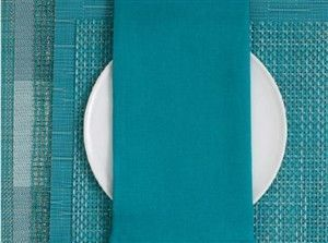 Chilewich | Linen Napkins S/8 | Peacock