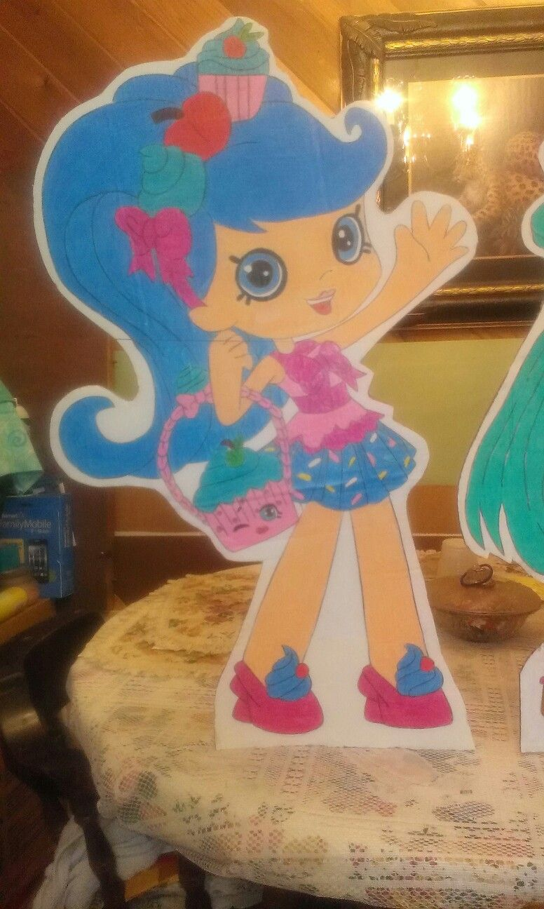 Jessicake shopkins shoppies doll standing cardboard cutout ...