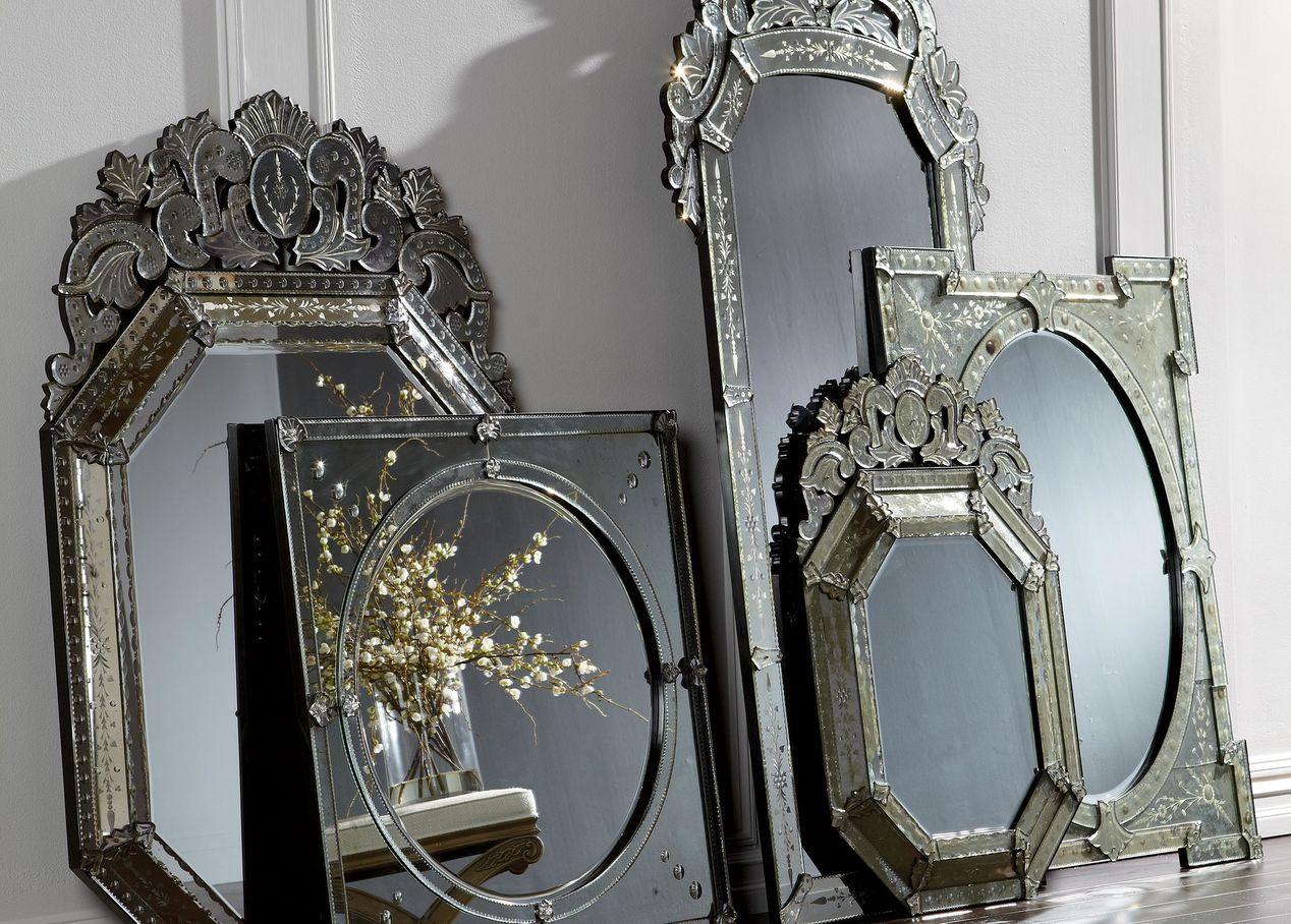 Venetian Crown Floor Mirror | Mirrors | Ethan Allen | Formal Living ...