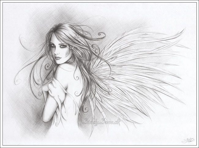 Pencil drawings of fallen angels