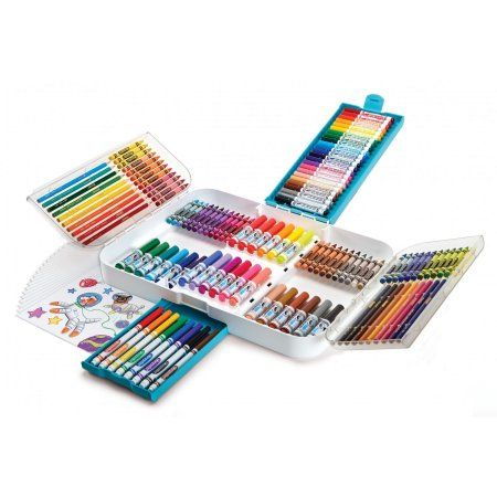 Crayola Ultra Smart Case 150 Pieces Art Set Gift For Kids