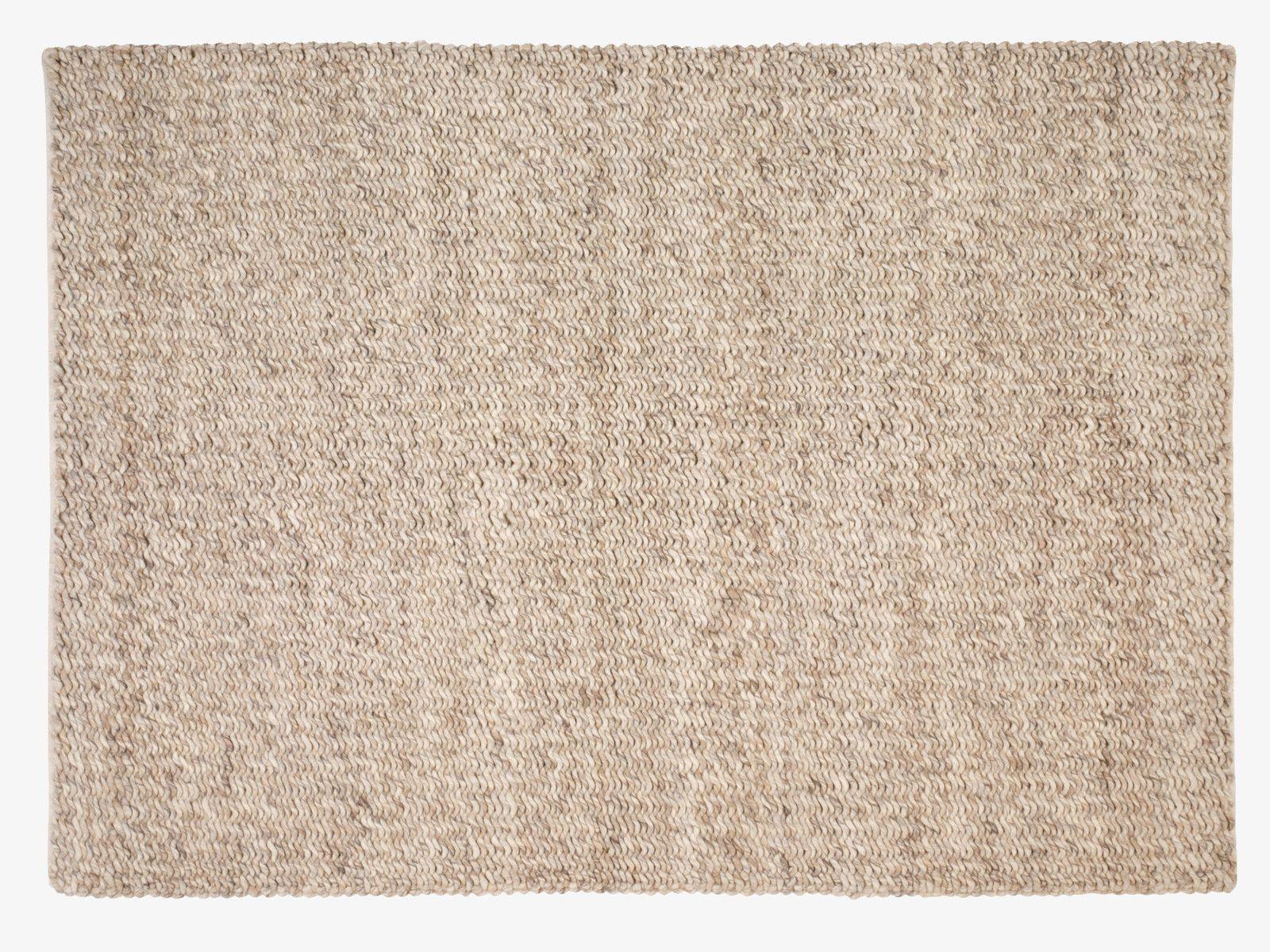 Oatmeal Neutral Wool Blend Large Textured Wool Rug 170 X 240cm Habitatuk Natural Wool Rugs Rugs Beige Carpet