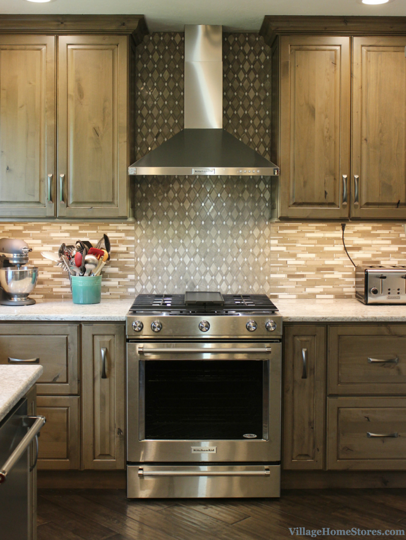 Grey Stained Cabinets In Kitchen With Stainless Appliances. |  VillageHomeStores.com