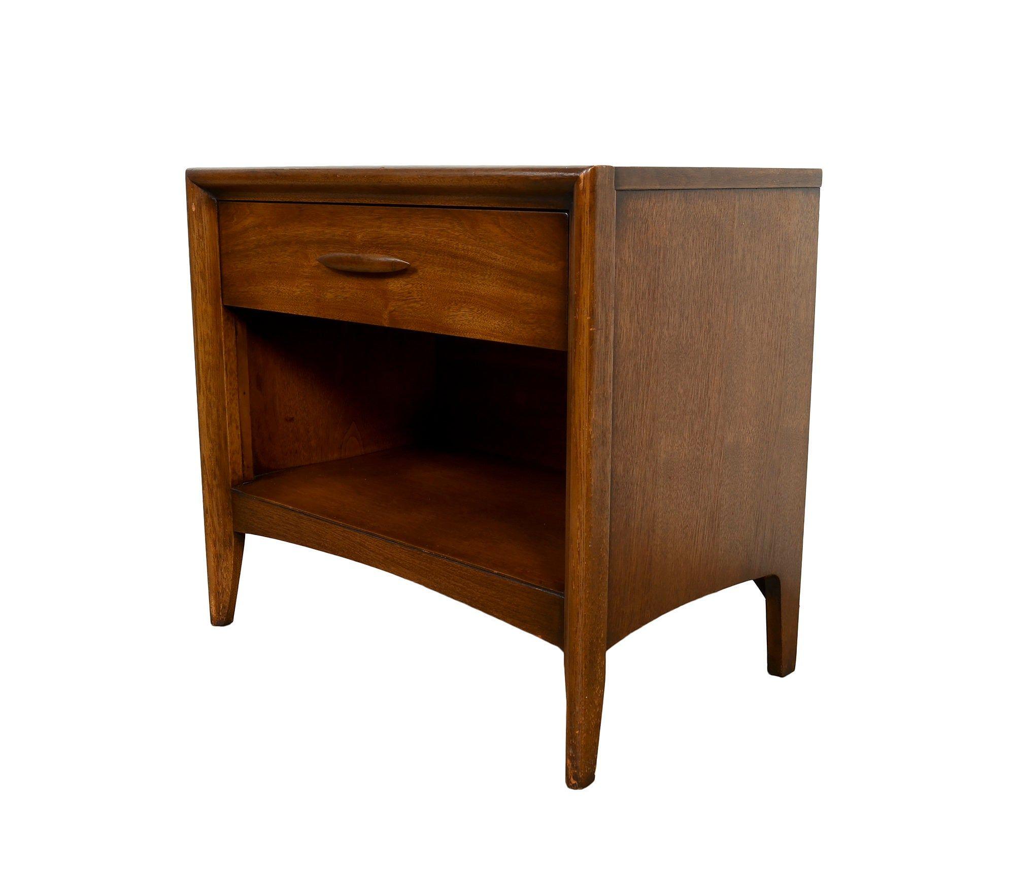 Best Walnut Nightstand Broyhill Furniture Mid Century Modern 400 x 300