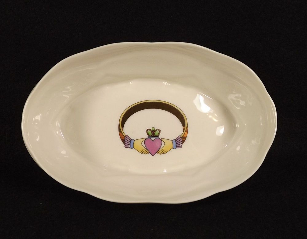 Claddagh Donegal Parian Oval Bowl Celebrating 10 years Ireland Irish Tableware & Claddagh Donegal Parian Oval Bowl Celebrating 10 years Ireland Irish ...