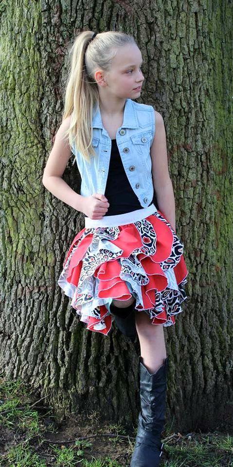fancy flounce skirt