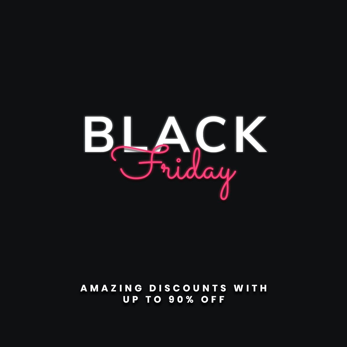 Glowing Black Friday Text Psd 90 Off Discount Ad Template Free Image By Rawpixel Com Sasi In 2020 Black Friday Black Friday Offers Black Friday Christmas
