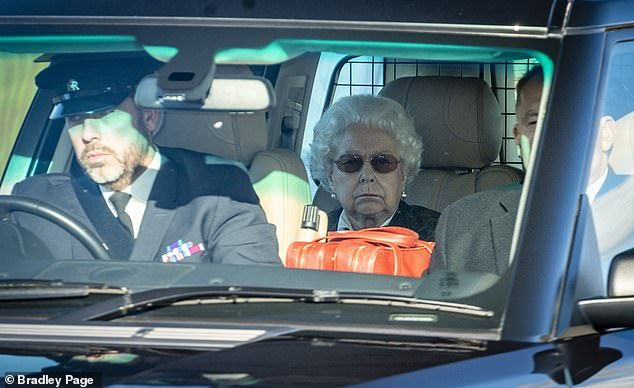 Photo of Queen arrives at Windsor Castle on a bright winter afternoon