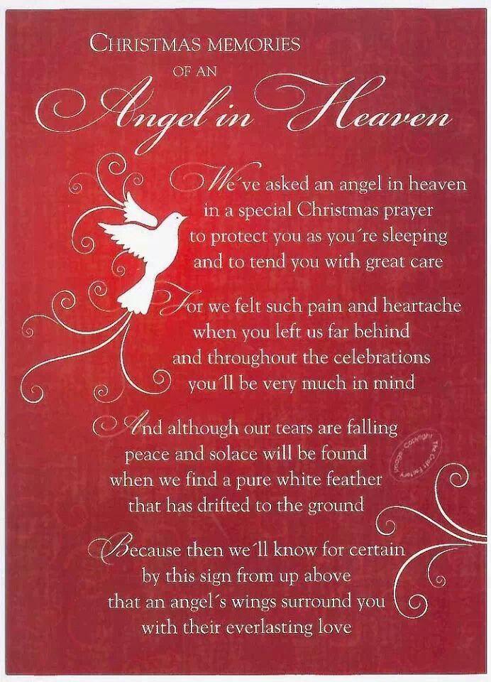 Grave Card Xmas Angel In Heaven Free Holder Cm14 Memorial Funeral Memoriam 5060131750491 Ebay Heaven Poems Christmas In Heaven Mom In Heaven