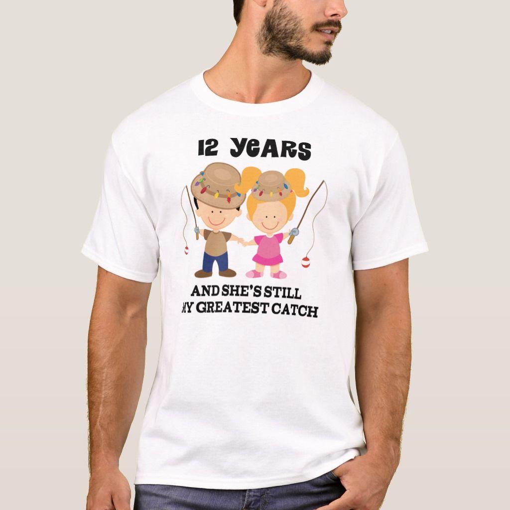 12th wedding anniversary gift for him tshirt 20th
