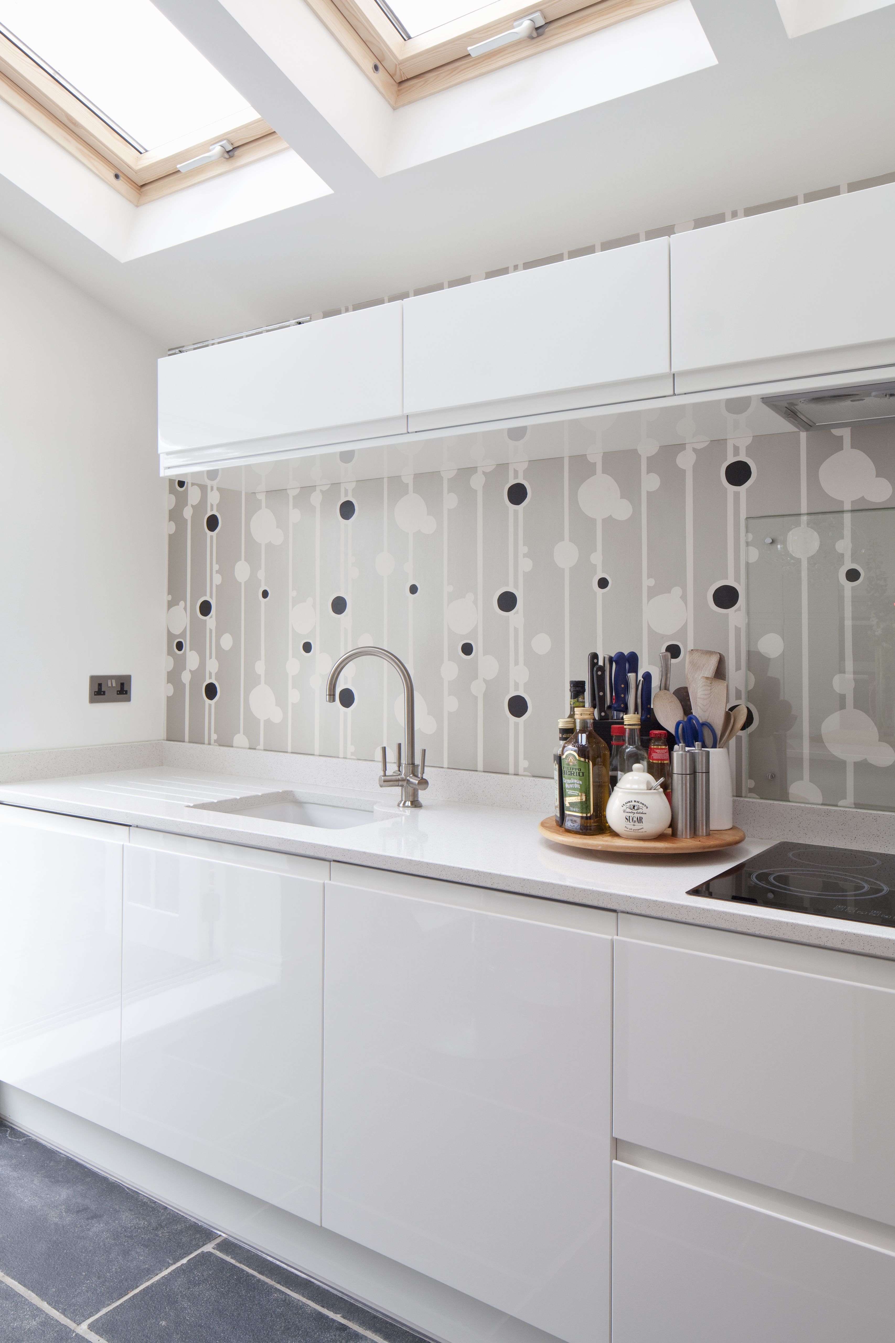 Best Contemporary Kitchen Side Extension Feature Wall Sleek 400 x 300