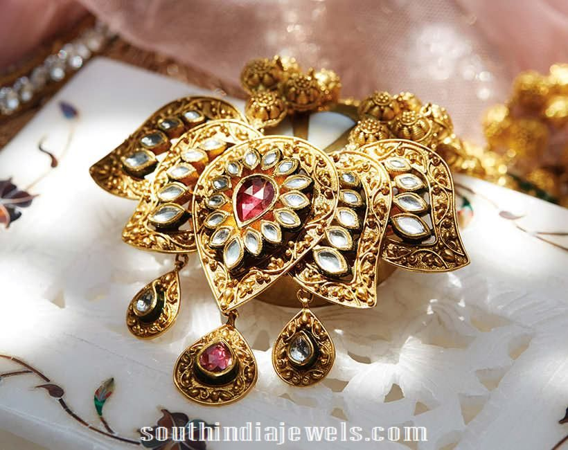 Gold lotus pendant from tanishq lotus pendants and jewel gold lotus pendant from tanishq mozeypictures Image collections