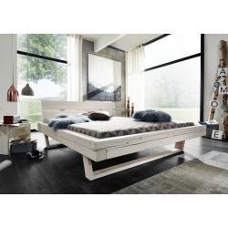 Photo of Balkenbett Slesvig Massivholz weiß lasiert, 140x 200 cm, Aussenmaß 162x85x222cm